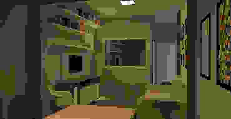 Sala CW Salas de estar modernas por wsenterarquitetura Moderno