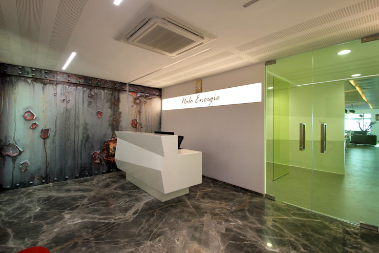 Halo Enerie Office Modern offices & stores by NA ARCHITECTS Modern