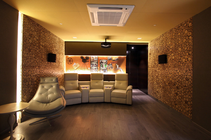 Lotus pond Modern media room by NA ARCHITECTS Modern