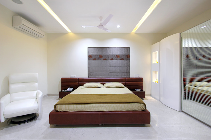 Flat Modern style bedroom by NA ARCHITECTS Modern