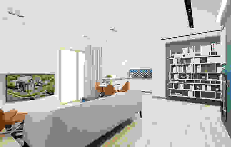 60m2 mieszkanie w Dąbrowie Górniczej Nowoczesny salon od Ale design Grzegorz Grzywacz Nowoczesny