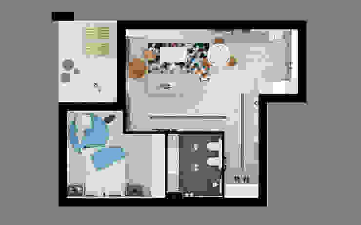 60m2 mieszkanie w Dąbrowie Górniczej Nowoczesny balkon, taras i weranda od Ale design Grzegorz Grzywacz Nowoczesny