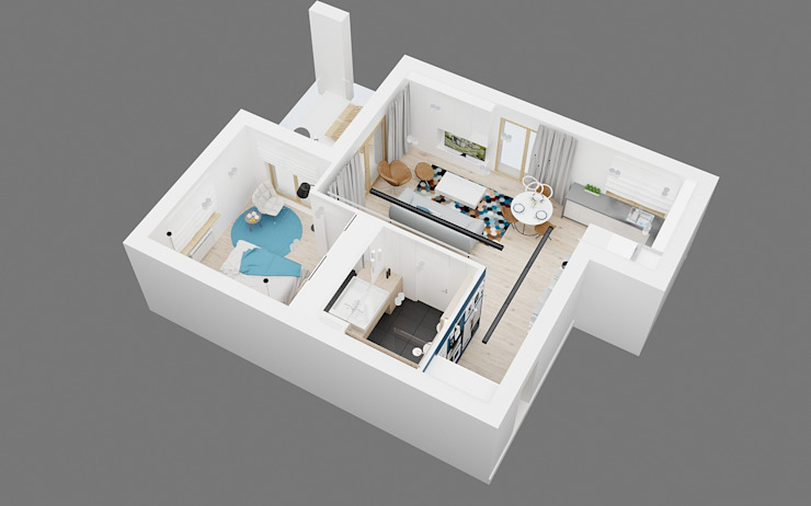 Modern terrace by Ale design Grzegorz Grzywacz Modern