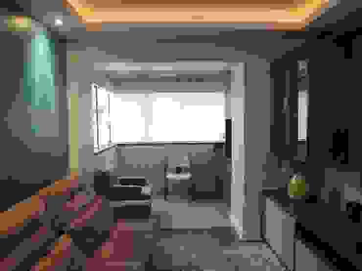 Salones de estilo moderno de Tatiana Junkes Arquitetura e Luminotécnica Moderno