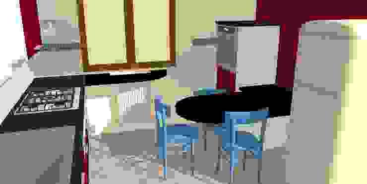 Rendering cucina di Arreda Progetta di Alice Bambini Moderno MDF