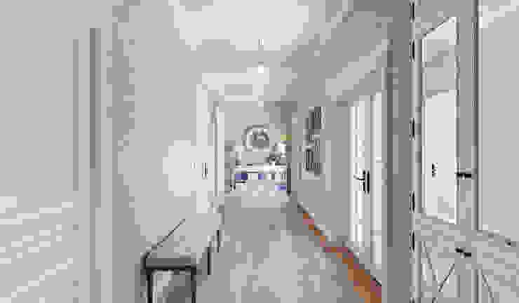 1+1 studio 經典風格的走廊,走廊和樓梯