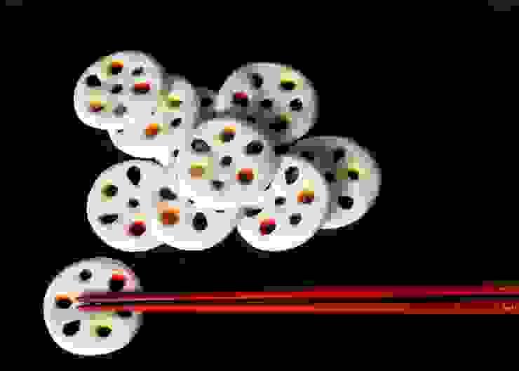 レンコンの箸置き: はなわかが手掛けた折衷的なです。,オリジナル 磁器