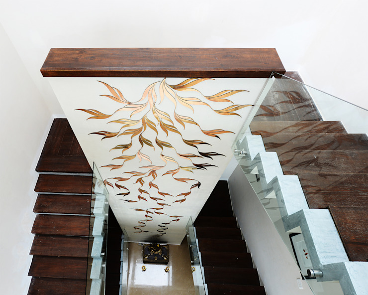 Residential Bungalow Modern corridor, hallway & stairs by NA ARCHITECTS Modern