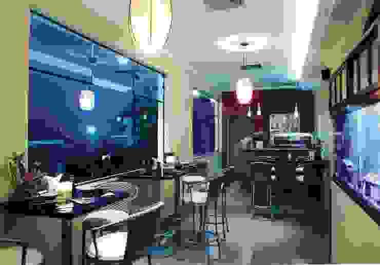 Restaurante Japonês Bares e clubes asiáticos por Luciano Esteves Arquitetura e Design Asiático