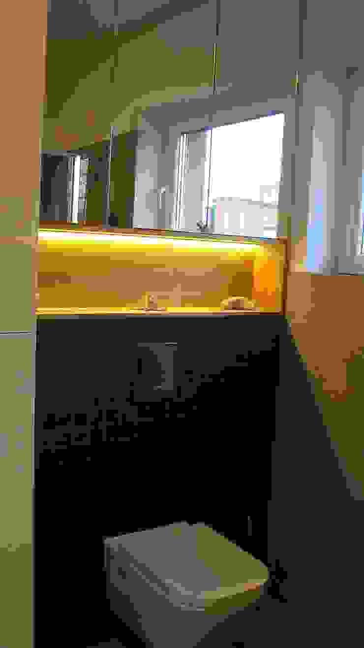 mieszkanie Plewiska Klasyczna łazienka od Kara design. Pracownia Projektowa Karolina Pruszewicz Klasyczny