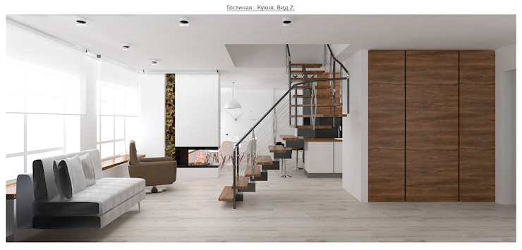 чистый проект Коридор, прихожая и лестница в стиле минимализм от Circus28_interior Минимализм