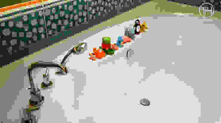 Zaczarowany świat - łazienka dla dzieci Nowoczesna łazienka od TOKA + HOME Nowoczesny Ceramiczny