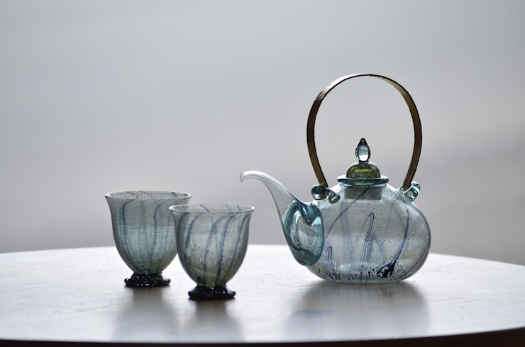 銀彩装飾 ちろり: 田井将博 グラスタイムが手掛けた現代のです。,モダン ガラス