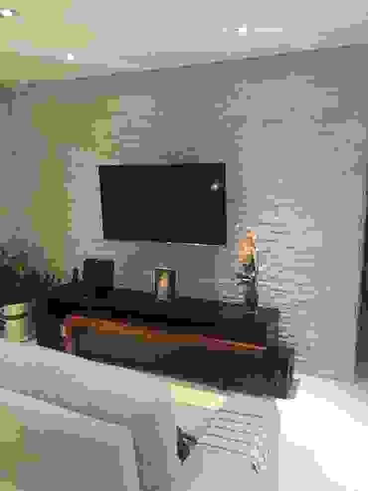 Projeto Salas de estar modernas por Drika Passos Design Moderno