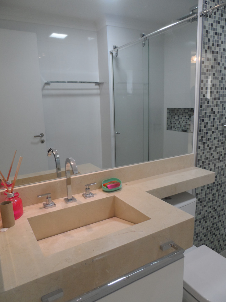 Projeto Banheiros modernos por Drika Passos Design Moderno