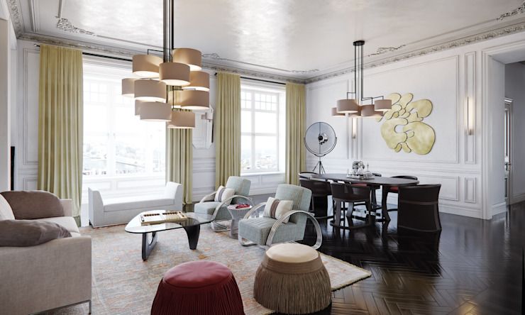 Eclectic style living room by MARION STUDIO Eclectic