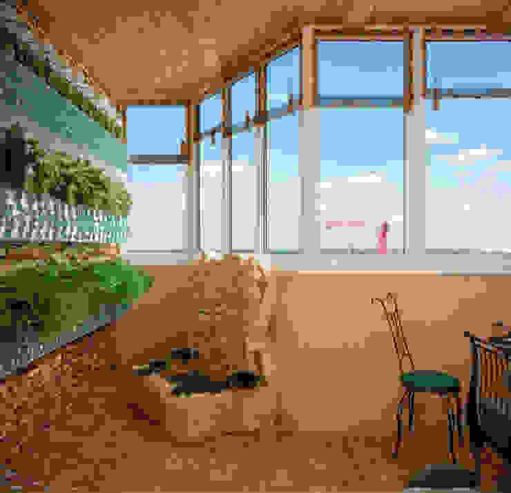 Balkon, Beranda & Teras Gaya Mediteran Oleh Студия интерьерного дизайна happy.design Mediteran