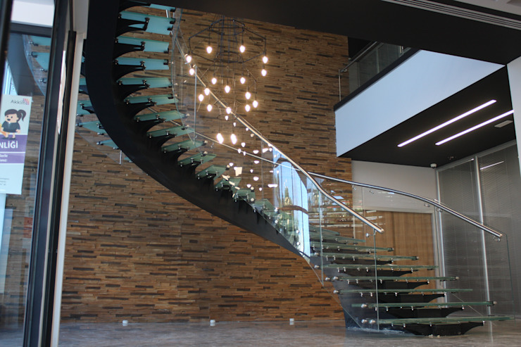 Visal Merdiven – Akkim Hollow Fibre ÜB – YALOVA: modern tarz , Modern