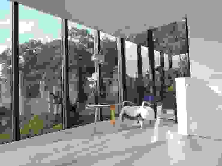 Tour vitrée Jardin d'hiver minimaliste par ARTERRA Minimaliste Bois Effet bois