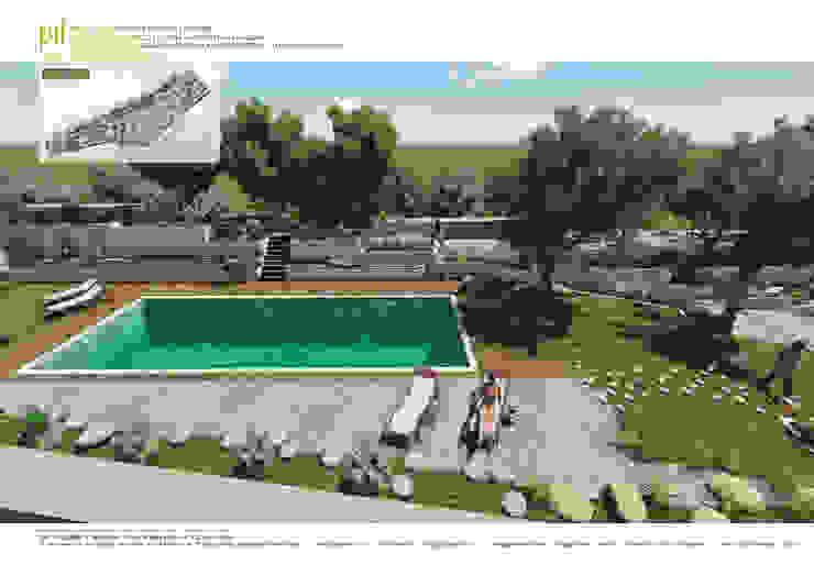 Jardins mediterrânicos por Pil Tasarım Mimarlik + Peyzaj Mimarligi + Ic Mimarlik Mediterrânico