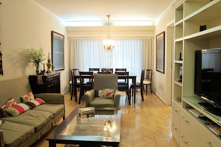 Living + comedor Klasyczny salon od Radrizzani Rioja Arquitectos Klasyczny Beton