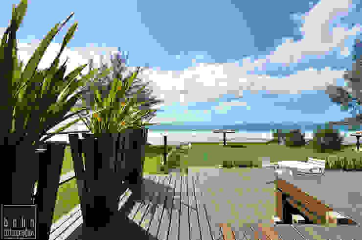 Aconchego a beira mar Varandas, alpendres e terraços rústicos por Bethina Wulff Rústico