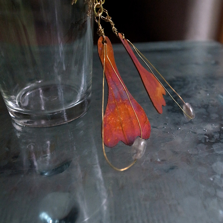 Earrings: Hiroshi NOMOTOが手掛けた現代のです。,モダン 金属