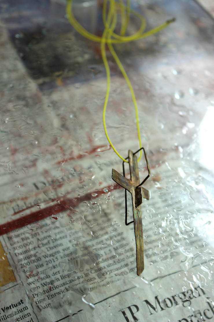 Necklace: Hiroshi NOMOTOが手掛けた現代のです。,モダン 金属
