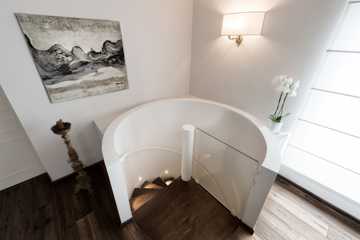 Melissa Giacchi Architetto d'Interni Classic style corridor, hallway and stairs