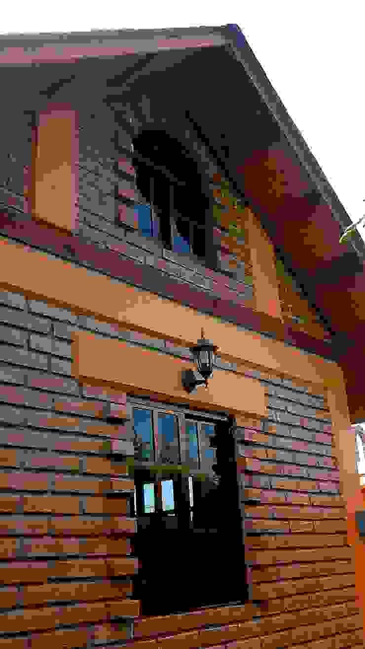 CABAÑA EN ATOTONILCO EL GRANDE HGO Paredes y pisos de estilo rústico de OMR ARQUITECTURA & DISEÑO DE INTERIORES Rústico