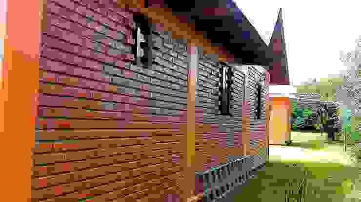 CABAÑA EN ATOTONILCO EL GRANDE HGO Puertas y ventanas rústicas de OMR ARQUITECTURA & DISEÑO DE INTERIORES Rústico