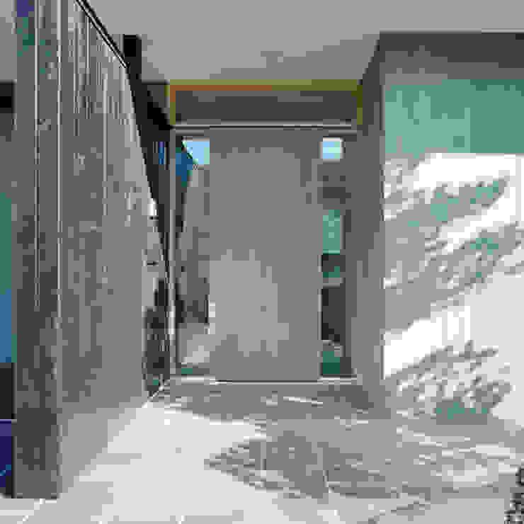 Minimalist corridor, hallway & stairs by AIDAHO Inc. Minimalist Wood Wood effect