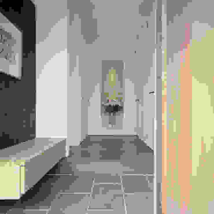 Modern Corridor, Hallway and Staircase by AIDAHO Inc. Modern
