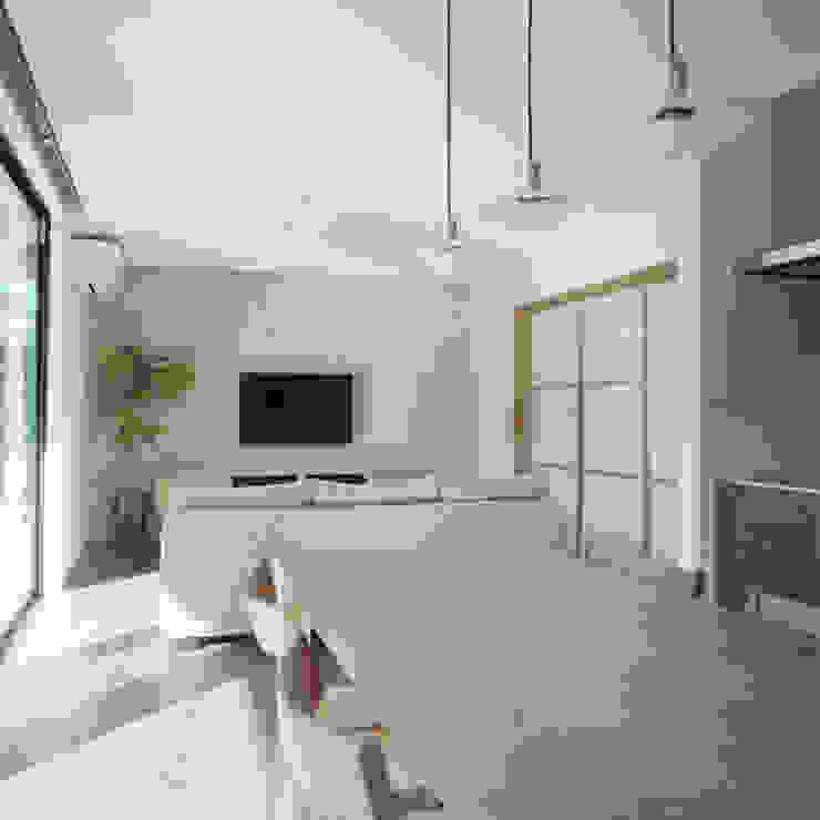 Modern Living Room by AIDAHO Inc. Modern Stone