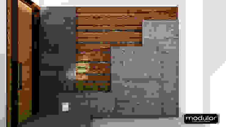 Modern garden by Modulor Arquitectura Modern Concrete
