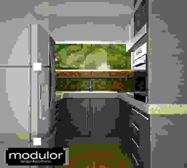 Cocina Pequena Cocinas modernas de Modulor Arquitectura Moderno Madera Acabado en madera
