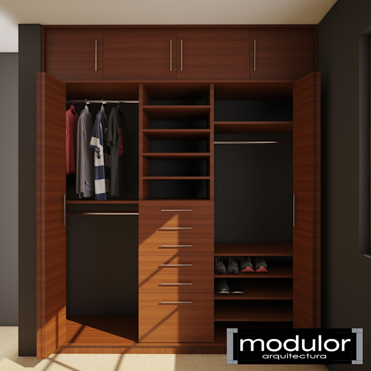 Modulor Arquitectura Dressing roomStorage Wood Wood effect
