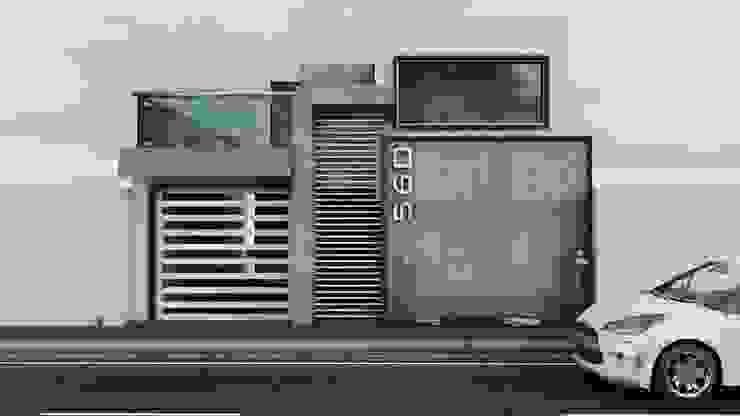 Propuesta de Fachada 1 Casas modernas de Modulor Arquitectura Moderno Piedra