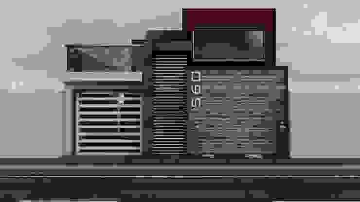 Propuesta de Fachada 2 Casas modernas de Modulor Arquitectura Moderno Pizarra