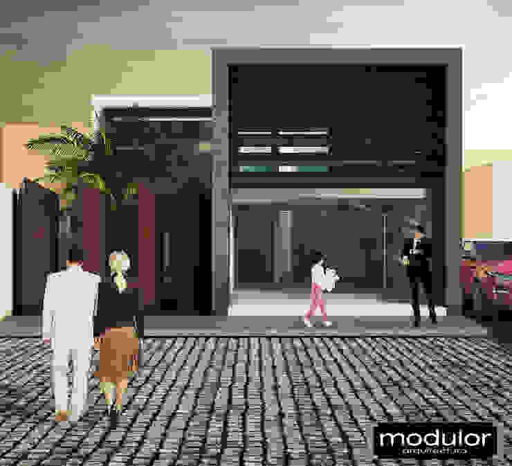 Fachada Principal Clínicas y consultorios médicos de estilo moderno de Modulor Arquitectura Moderno Pizarra