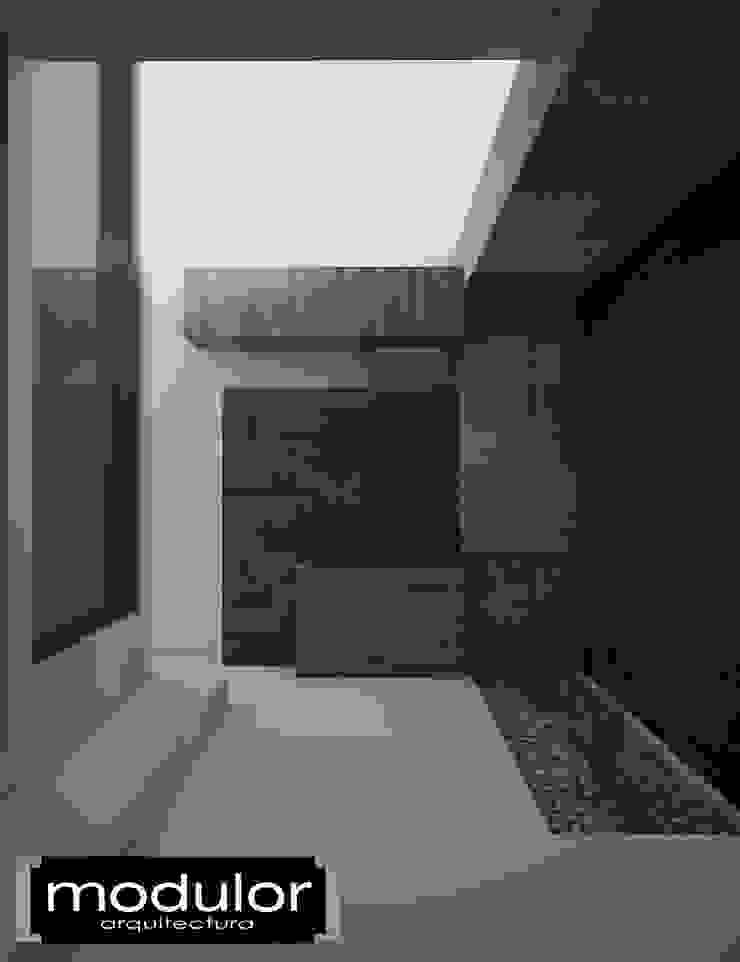 Fachada MG-Ceibas-87 Jardines modernos de Modulor Arquitectura Moderno Pizarra