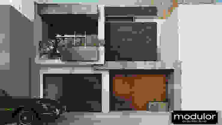 Fachada MG-Ceibas-87 Casas modernas de Modulor Arquitectura Moderno Pizarra