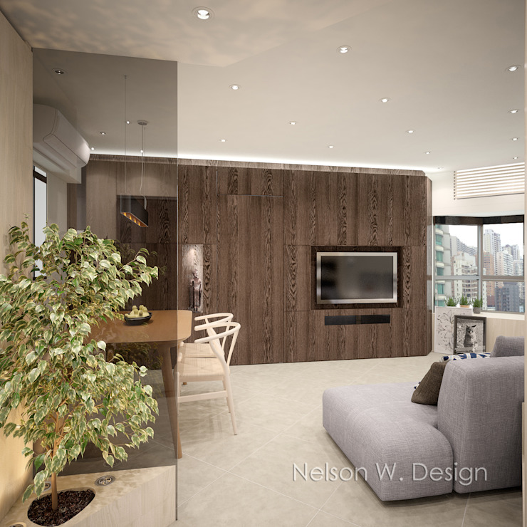 Illumination Terrace 光明臺 | Tai Hang Road 大坑道 Modern living room by Nelson W Design Modern Wood Wood effect