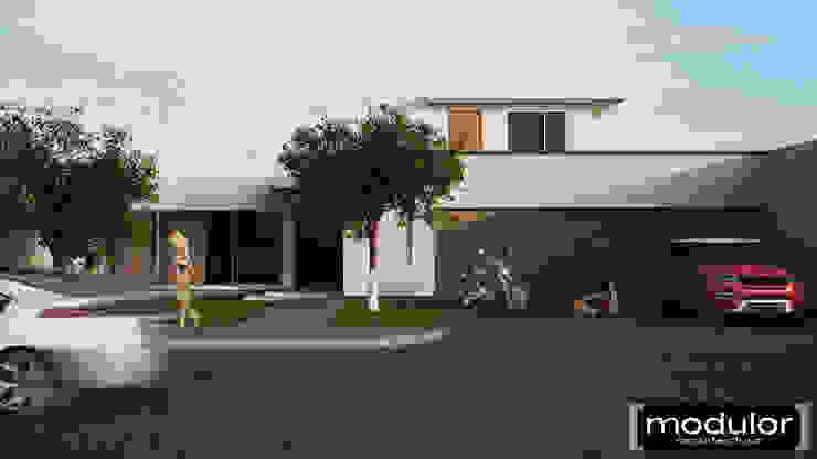 Modulor Arquitectura Case in stile minimalista Cemento Bianco