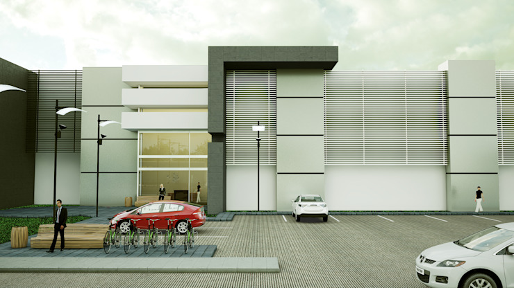 Edificio de Oficinas Edificios de oficinas de estilo moderno de Modulor Arquitectura Moderno Aluminio/Cinc