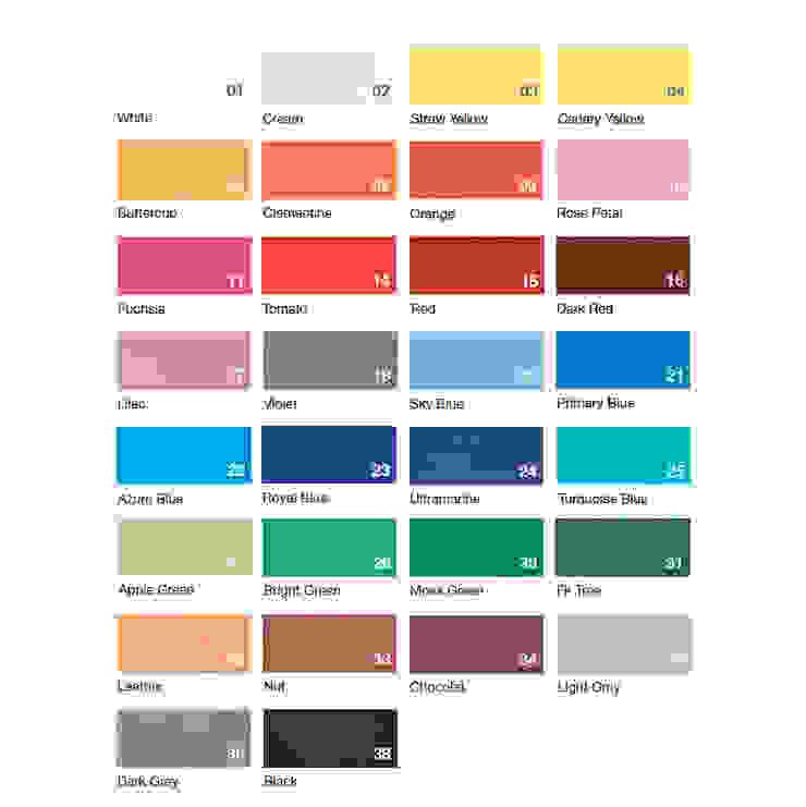 Nuancier des couleurs du Décor Mural RAINBOW (vendu par lot de 10 pièces) - ∅ 27,5 cm ARTURASS Murs & SolsDécorations murales