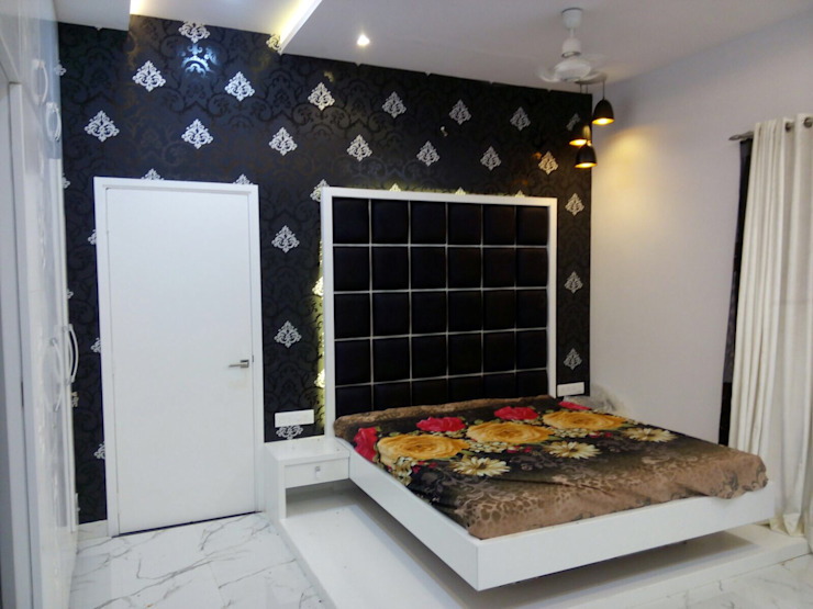 Bedroom Wall concept Modern style bedroom by Floor2Walls Modern