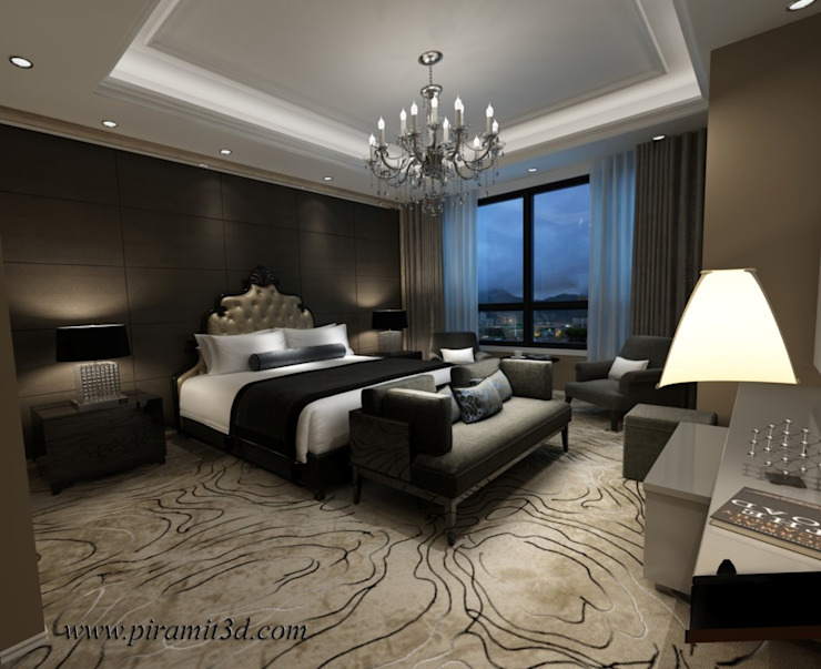 piramit3d – ceylan_karavil_otel_odası: modern tarz , Modern Ahşap Ahşap rengi