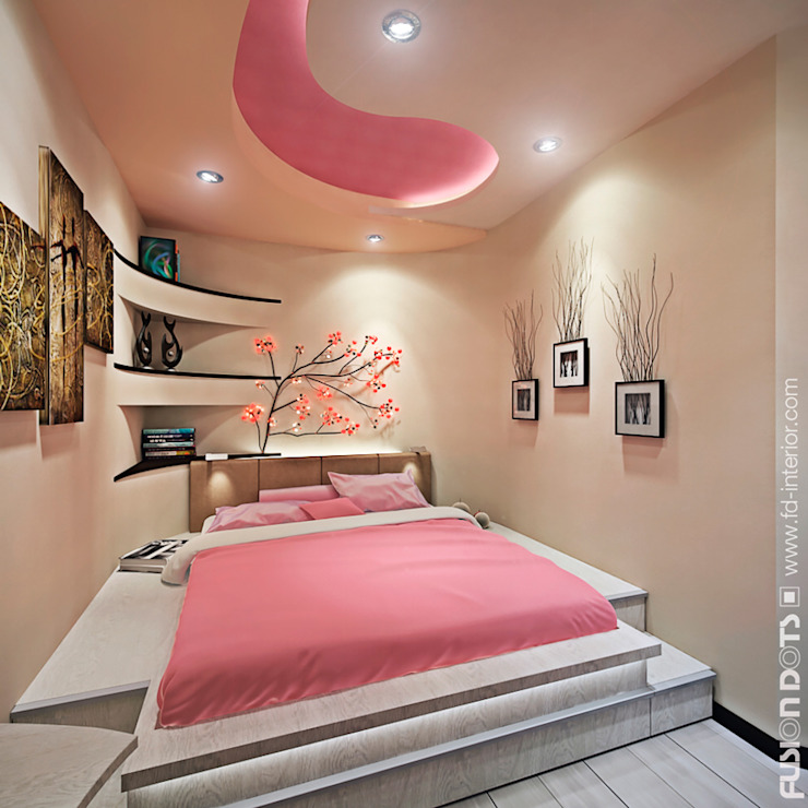 Minimalist bedroom by Fusion Dots Minimalist