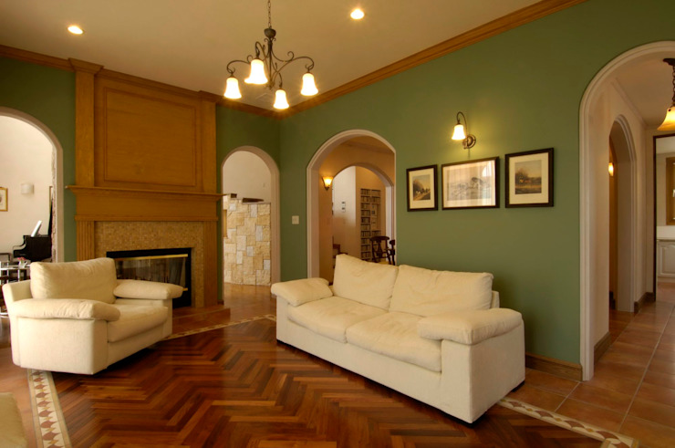 KA house | SANKAIDO 地中海デザインの リビング の SANKAIDO | 株式会社 参會堂 地中海